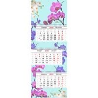 """Календарь квартальный """"Орхидеи"""" 2019 год"""